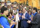 Le chef de l'État rencontre les jeunes exemplaires