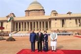 Cérémonie d'accueil officielle en l'honneur du président Trân Dai Quang en Inde