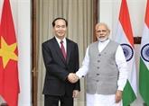 Entretien entre le président vietnamien et le Premier ministre indien