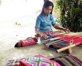 Préserver le tissage de brocatelle de Tà Lài