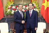 Le président Trân Dai Quang reçoit le ministre chinois des Affaires étrangères