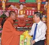Bac Liêu : voeux aux Khmers à l'occasion de la fête Chol Chnam Thmay