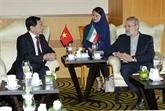 Promotion des relations d'amitié et de coopération Vietnam - Iran