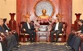 Le président de l'Assemblée consultative islamique d'Iran reçu à Hô Chi Minh-Ville