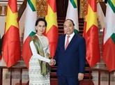 Le Premier ministre s'entretient avec la conseillère d'État du Myanmar
