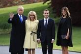 Trump et Macron affichent leur complicité à la Maison Blanche
