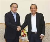 Le vice-PM Truong Hoà Binh reçoit le vice-ministre de l'Intérieur de Singapour