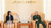 Le général Nguyên Chi Vinh reçoit une délégation du ministère japonais des AE