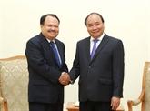 Le Premier ministre Nguyên Xuân Phuc reçoit le ministre laotien de l'Énergie et des Mines