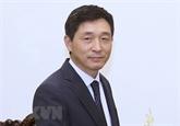 Insigne pour la paix et l'amitié entre les nations à l'ambassadeur sud-coréen