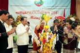 Nouvel An du Laos 2018 : les dirigeants de Hô Chi Minh-Ville formulent leurs vœux
