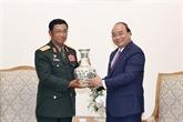 Le PM reçoit le chef d'état-major général de l'Armée populaire lao