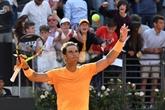 Tennis: Nadal donne la leçon, Djokovic remonte la pente à Rome