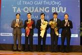 Remise du prix Ta Quang Buu 2018 à trois scientifiques