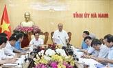 Le PM travaille avec les autorités de Hà Nam