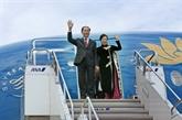 Le président Trân Dai Quang et son épouse en visite d'État au Japon
