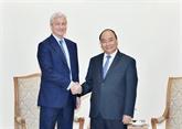 Le Premier ministre vietnamien reçoit le président du groupe américain J.P. Morgan