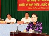La présidente de l'Assemblée nationale rencontre des électeurs de Cân Tho