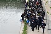 Évacuation du plus grand campement de migrants de Paris