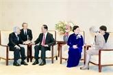 Entrevue entre le président vietnamien et l'empereur Akihito