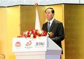Trân Dai Quang reçoit le président de l'Alliance parlementaire d'amitié Japon-Vietnam