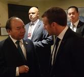 Nguyên Xuân Phuc rencontre des dirigeants du monde