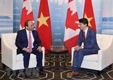 Justin Trudeau remercie Nguyên Xuân Phuc pour sa présence au Sommet G7 élargi