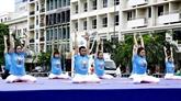 La Journée internationale du yoga célébrée à Hanoï