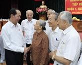 Le président Trân Dai Quang rencontre des électeurs de Hô Chi Minh-Ville