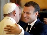 Migrants: Macron rencontre le pape et joue l'apaisement avec Rome