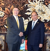 Le Premier ministre reçoit des dirigeants de l'ONU