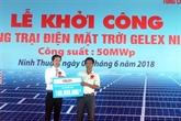 Mise en chantier de la ferme solaire Gelex à Ninh Thuân
