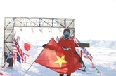 Elle court un marathon au... pôle Nord
