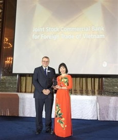 Vietcombank reçoit le prix Mobile Banking Initiative of the Year