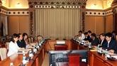 HCM-Ville et la JICA intensifient leur coopération dans la mise en œuvre des projets