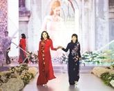 Les áo dài mettent en va leur la beauté des mariées vietnamiennes
