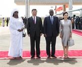 Arrivée du président chinois en Afrique du Sud pour une visite d'État