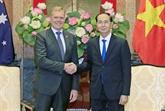 Trân Dai Quang reçoit le président de la Chambre des représentants australienne