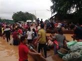 Effondrement de barrage: aides vietnamiennes accordées aux sinistrés laotiens