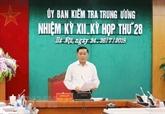 La Commission centrale du contrôle du Parti tient sa 28e réunion