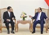 Le PM reçoit le président de l'Alliance des parlementaires d'amitié Japon - Mékong