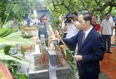 Le 27 juillet: le président Trân Dai Quang rend visite à Hung Yên