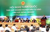 Promotion des investissements dans l'agriculture 