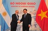 Le ministre argentin des AE et du Culte en visite officielle au Vietnam