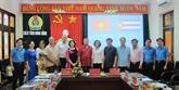 Une délégation de la Centrale des travailleurs cubains à Ninh Binh