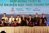 Mise en chantier d'une centrale solaire de 216 millions de dollars à Ninh Thuân