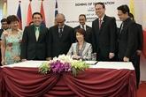Signature de la Déclaration de Singapour sur lenvironnement durable
