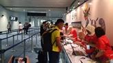 ASIAD 2018: l'équipe du Vietnam olympique de football est arrivée en Indonésie