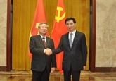 Trân Quôc Vuong reçu par le dirigeant chinois Xi Jinping