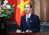 Le président Trân Dai Quang part pour des visites d'État en Éthiopie et en Égypte
